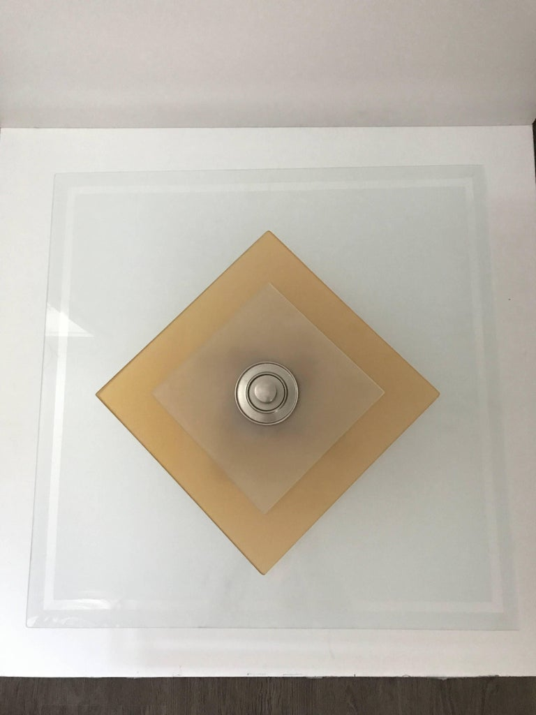 swedish large art deco 1935 etched glass square shaped pendant lamp for sale at 1stdibs. Black Bedroom Furniture Sets. Home Design Ideas