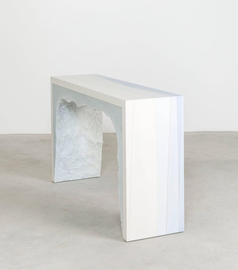 Contemporary Ombre Strata 3 Console by Fernando Mastrangelo, 1stdibs New York For Sale