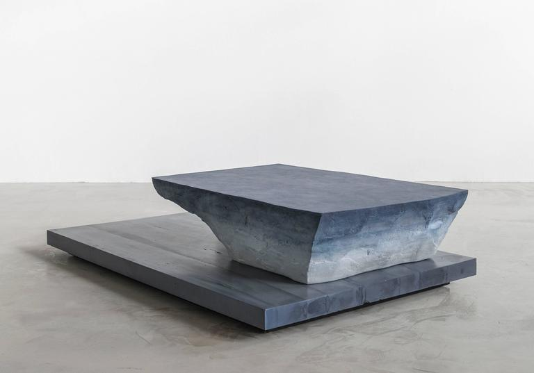 American Drift Coffee Table, Sand and Cement by Fernando Mastrangelo For Sale