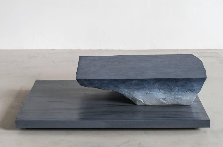 Cast Drift Coffee Table, Sand and Cement by Fernando Mastrangelo For Sale