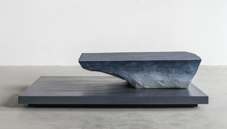 Drift Coffee Table, Sand and Cement by Fernando Mastrangelo In New Condition For Sale In Brooklyn, NY