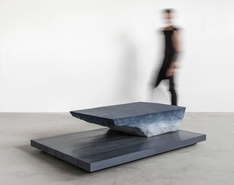Contemporary Drift Coffee Table, Sand and Cement by Fernando Mastrangelo For Sale