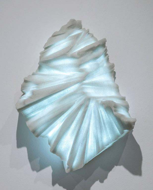 Contemporary Thaw Sconces, Powdered Glass by Fernando Mastrangelo For Sale