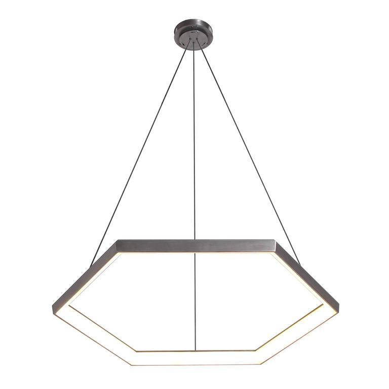 HEXIA HX34 - Black Hexagon Geometric Modern LED Chandelier Light Fixture