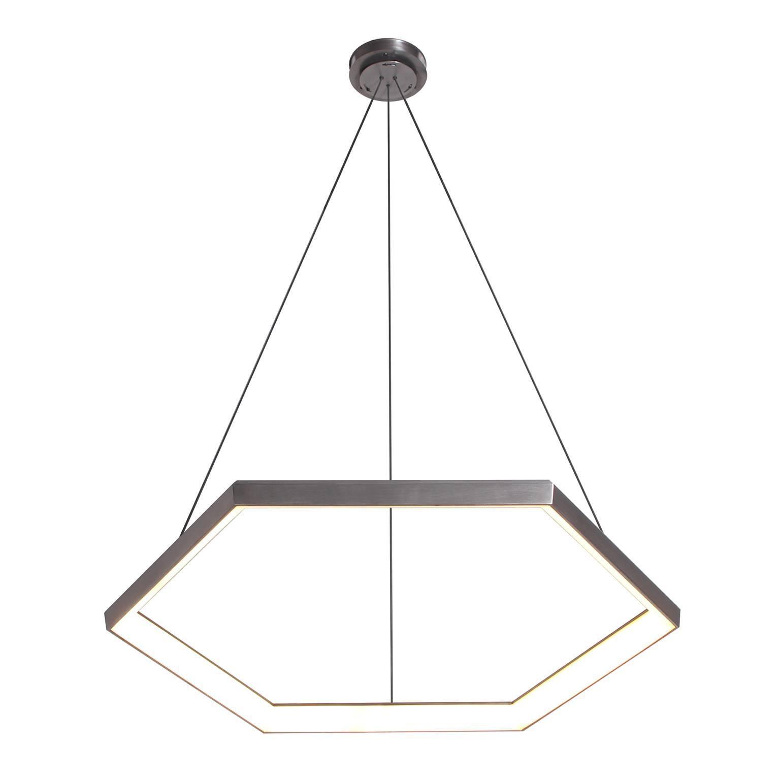 HEXIA HX34 - Black Hexagon Geometric Modern LED Chandelier Light Fixture