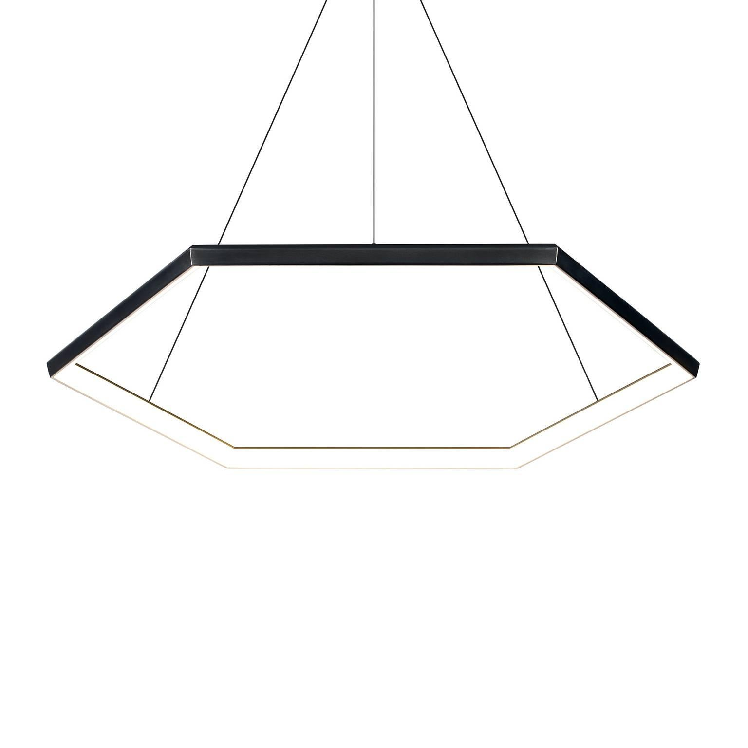 HEXIA HX46 - Black Hexagon Geometric Modern LED Chandelier Light Fixture