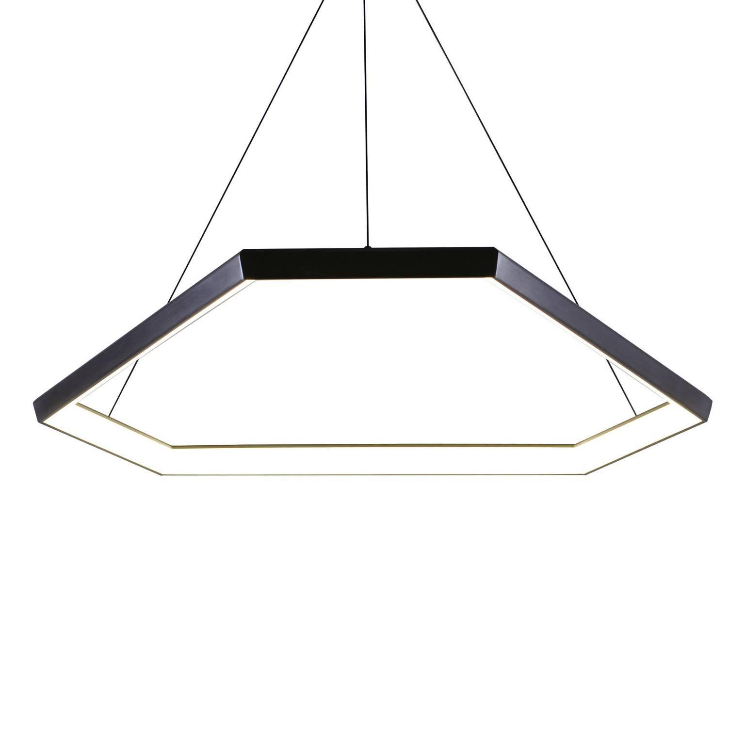 DITRI DX34 - Black Hexagon Geometric Modern LED Chandelier Light Fixture