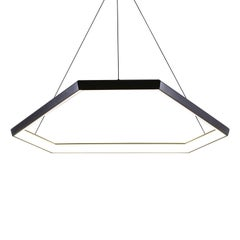 DITRI DX34 - Black Hexagon Geometric Modern LED Chandelier Light Fixture