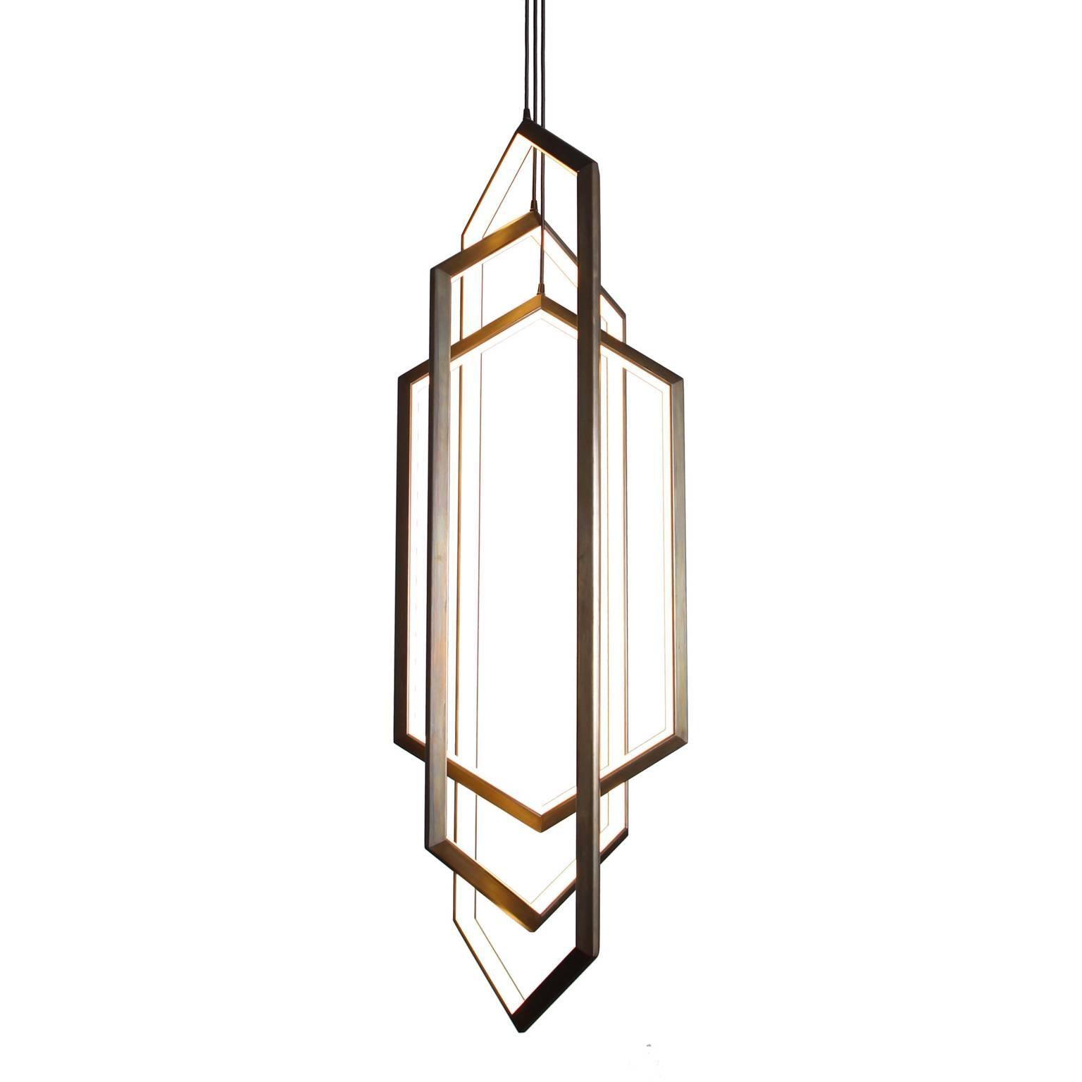 ORBIS VX58 - Hexagon Geometric Modern Chandelier LED Light Fixture