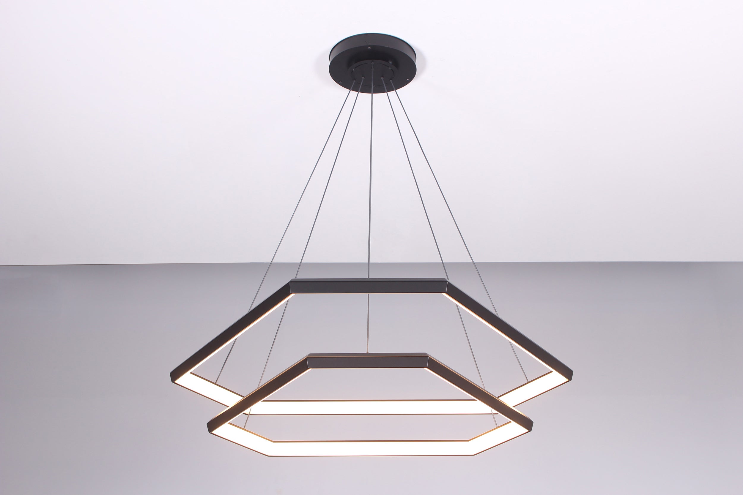 Ditri cascade dxc43 hexagon modern chandelier light fixture