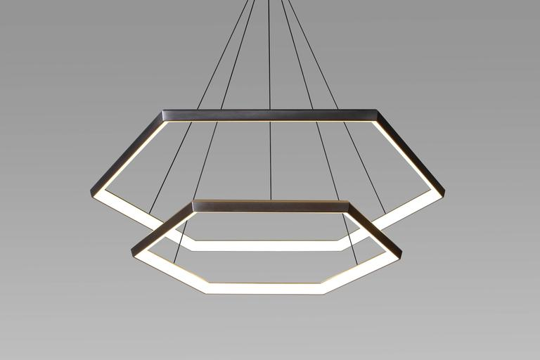 Contemporary hexagon geometric modern chandelier cascade hxc46 modern chandelier cascade hxc46 light fixture for sale cascade hxc46 is the beautiful meeting of the hexia line suspended effortlessly one above the aloadofball Choice Image
