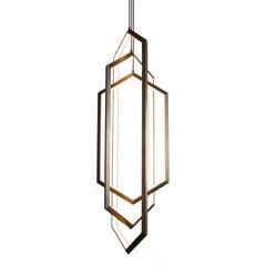 Contemporary Hexagon Geometric Modern Chandelier, Orbis VX58 Light Fixture