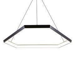 Contemporary Hexagon Geometric Modern Chandelier, Ditri DX34 Light Fixture