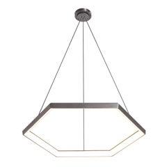 Contemporary Hexagon Geometric Modern Chandelier, Hexia HX34 Light Fixture