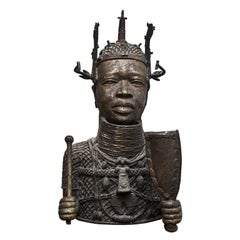 Bronze Bust of African Woman Antenata, Late 19th Century