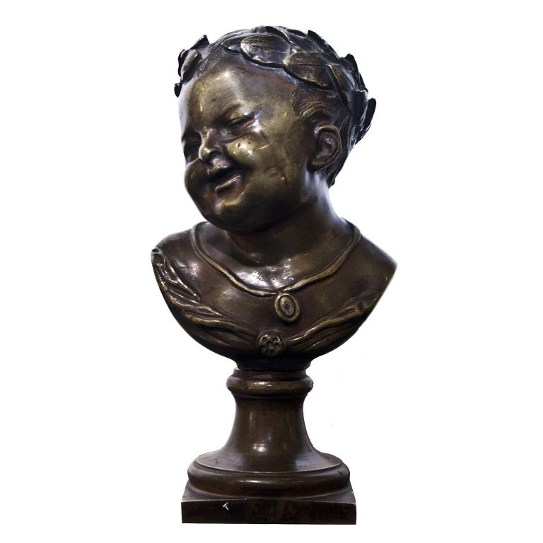 19th Century Young Emperor Bust For Sale