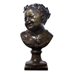 19th Century Young Emperor Bust