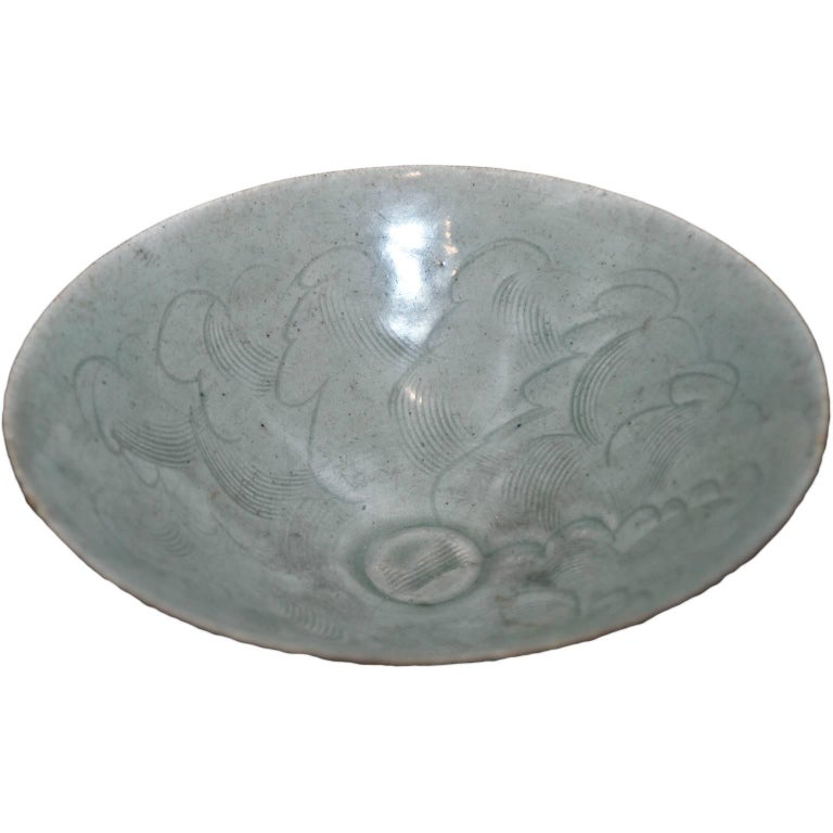 Little Circular Chinese Stoneware Bowl Sung 1 Period, 12th-14th Century For Sale