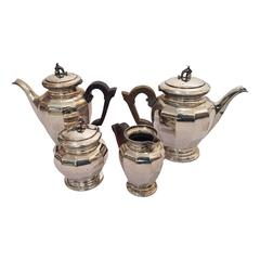 Tea and Coffee Silver Set, Silver 800 by Enrico Messulam for Bolli Milan