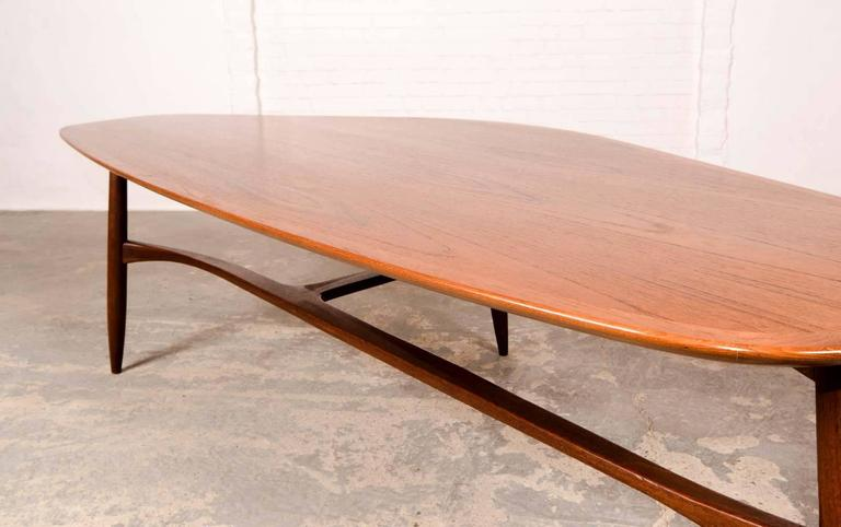 midcentury free form kidney shaped coffee table designed by svante skogh 3
