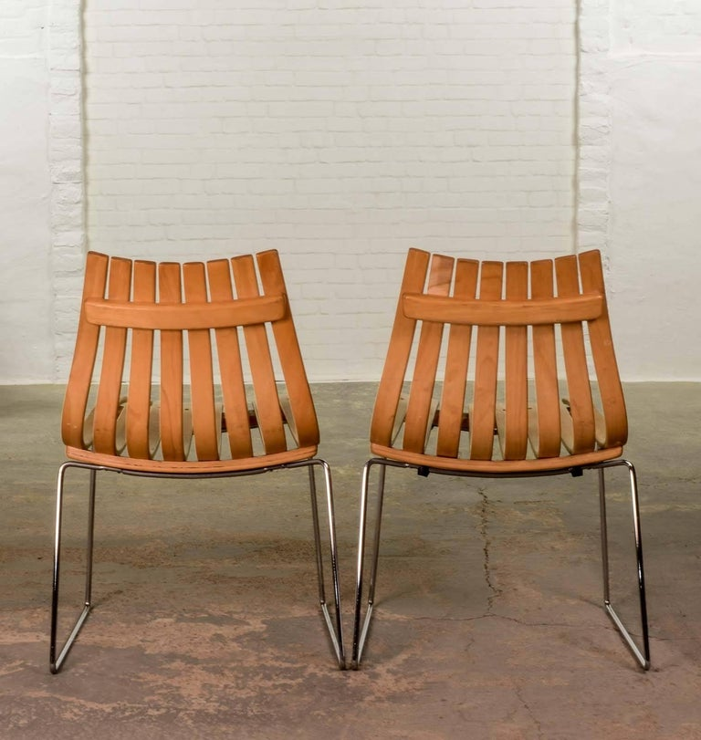 Mid century stackable junior dining chairs by norwegian for Furniture hove