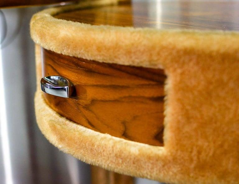 Extravagant Midcentury Plush And Rosewood Foldable Make Up