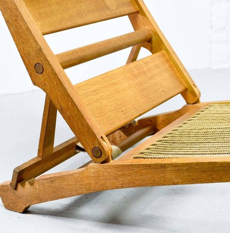 Magnificent Hans J. Wegner Oakwood Folding Lounge Chair AP71 by AP Stolen, 1968 9
