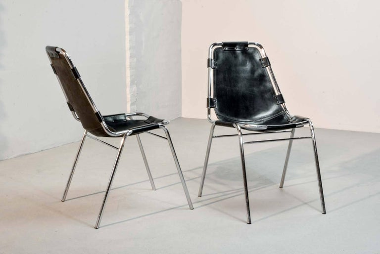 "Authentic ""Les Arcs"" Chairs, by Charlotte Perriand for Cassina, 1968 2"