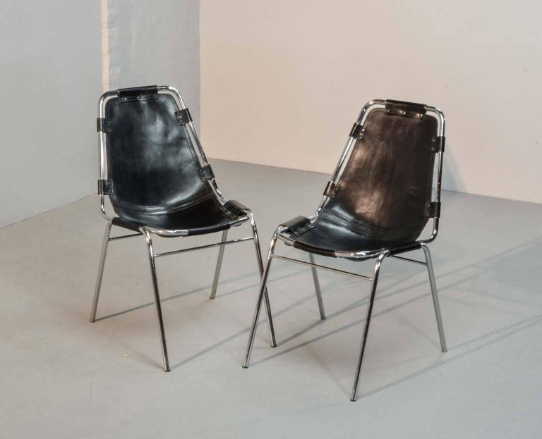 "Authentic ""Les Arcs"" Chairs, by Charlotte Perriand for Cassina, 1968 4"