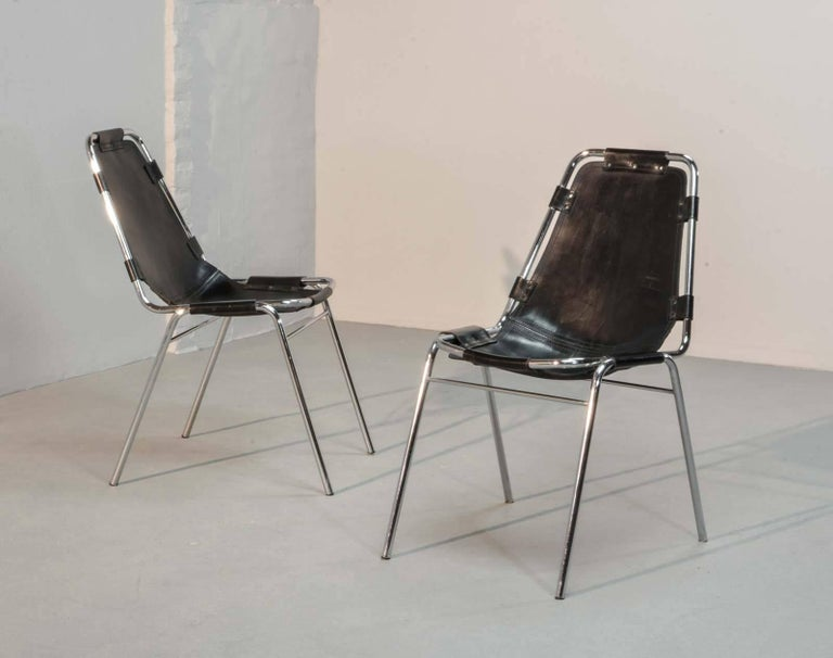 "Authentic ""Les Arcs"" Chairs, by Charlotte Perriand for Cassina, 1968 5"
