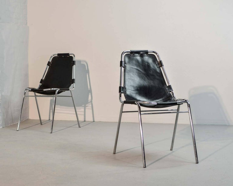 "Authentic ""Les Arcs"" Chairs, by Charlotte Perriand for Cassina, 1968 6"