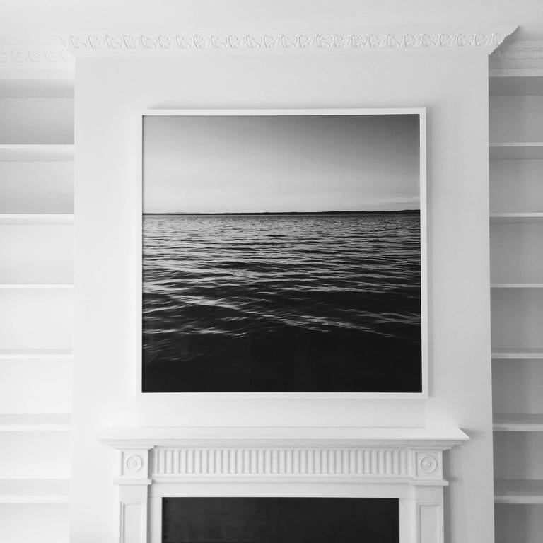Black and white photograph printed on rag paper. Taken by Grant K. Gibson on Penobscot Bay in Maine. This contemporary piece will add depth and sophistication to any space. 
