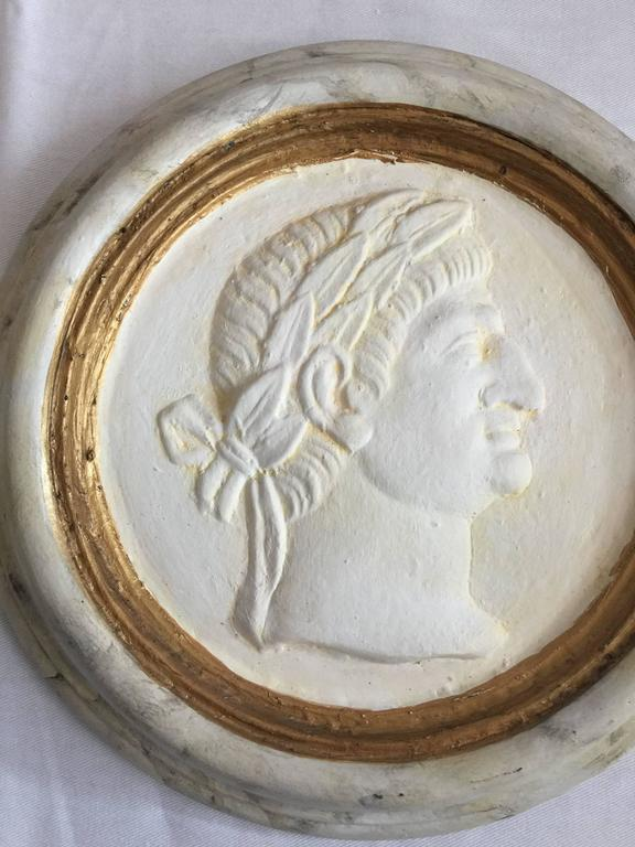 Italian Pair of Roman Reliefs or Medallions For Sale