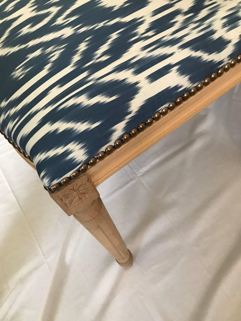 Louis XVI Style Dining Chair with Madeline Weinrib Silk Ikat Upholstery 4