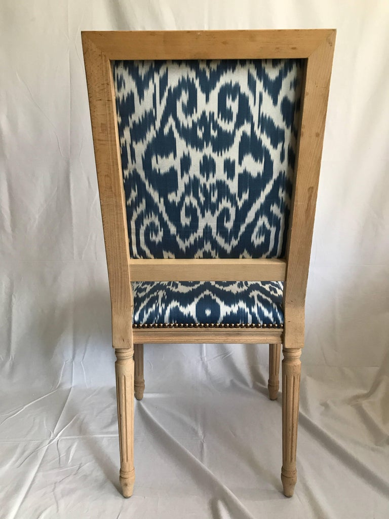 Louis XVI Style Dining Chair with Madeline Weinrib Silk Ikat Upholstery 3