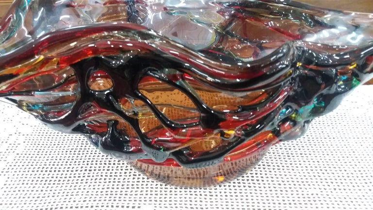 This bowl is made in Italy in Murano
