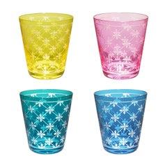 Set of Four Glass Tumbler Modern Decor Sofina Boutique Kitzbuehel