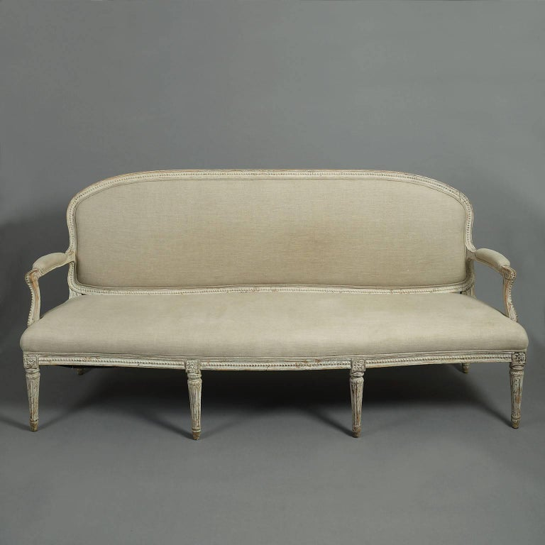 18th century louis xvi sofa or canape for sale at 1stdibs. Black Bedroom Furniture Sets. Home Design Ideas