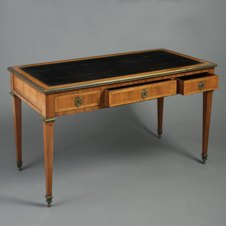 18th century louis xvi tulipwood bureau plat or writing for Bureau louis xvi