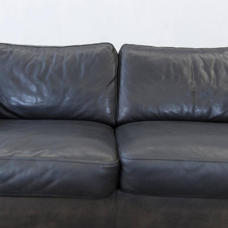 machalke saddle leather three seat couch brown black for sale at 1stdibs. Black Bedroom Furniture Sets. Home Design Ideas
