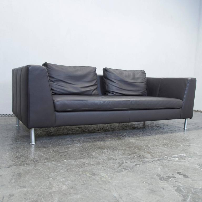 Ewald Schillig Back Three Seat Leather Sofa For Sale At 1stdibs