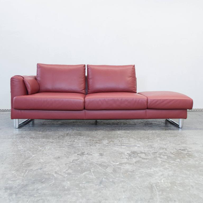 Ambienta Fine Leather Divan Bed Motorized Decline In Red And Great  Condition. High Quality And