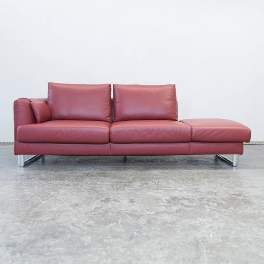 Ambienta Fine Leather Divan Bed Motorized Decline in Red at 1stdibs