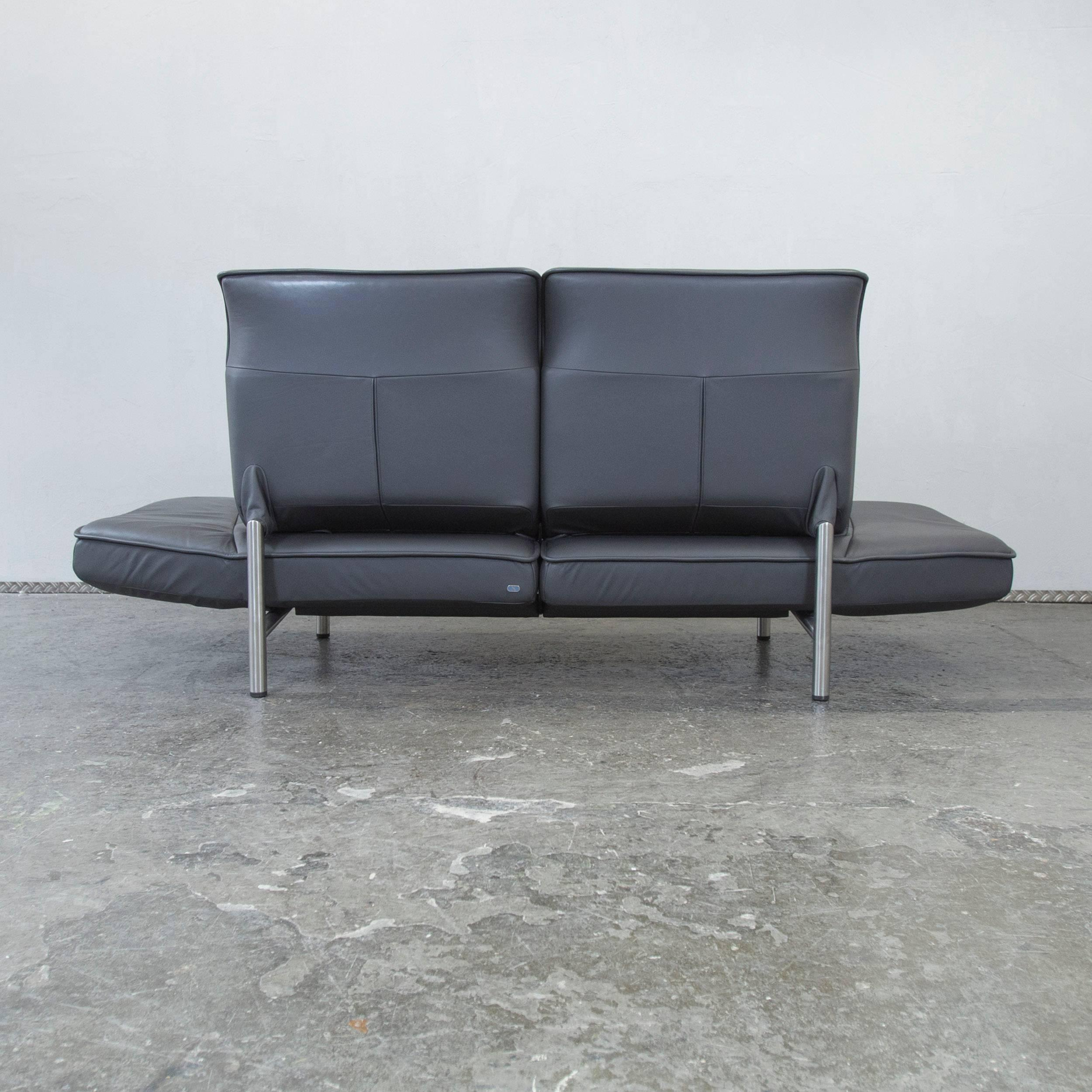 Sofa Modern Grau Simple Bigsofa Mit Hocker Cord Blau Grau