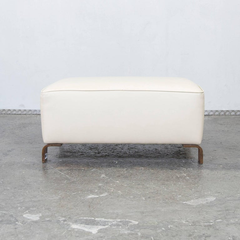 Br 252 Hl And Sippold Designer Leather Stool Cream Pouf