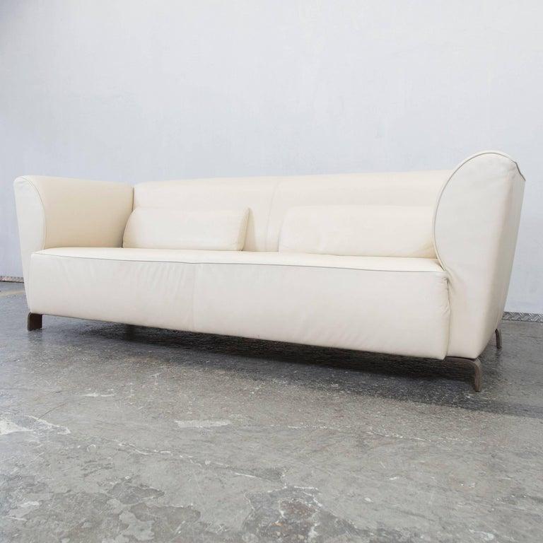 Brhl And Sippold Designer Leather Sofa Cream Three seat