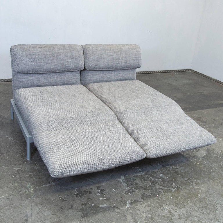 rolf benz plura designer sofa structured fabric grey beige. Black Bedroom Furniture Sets. Home Design Ideas