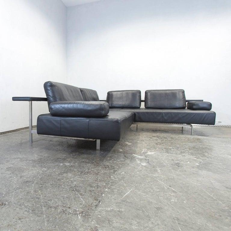 rolf benz dono designer leather corner sofa black function modern for sale at 1stdibs. Black Bedroom Furniture Sets. Home Design Ideas