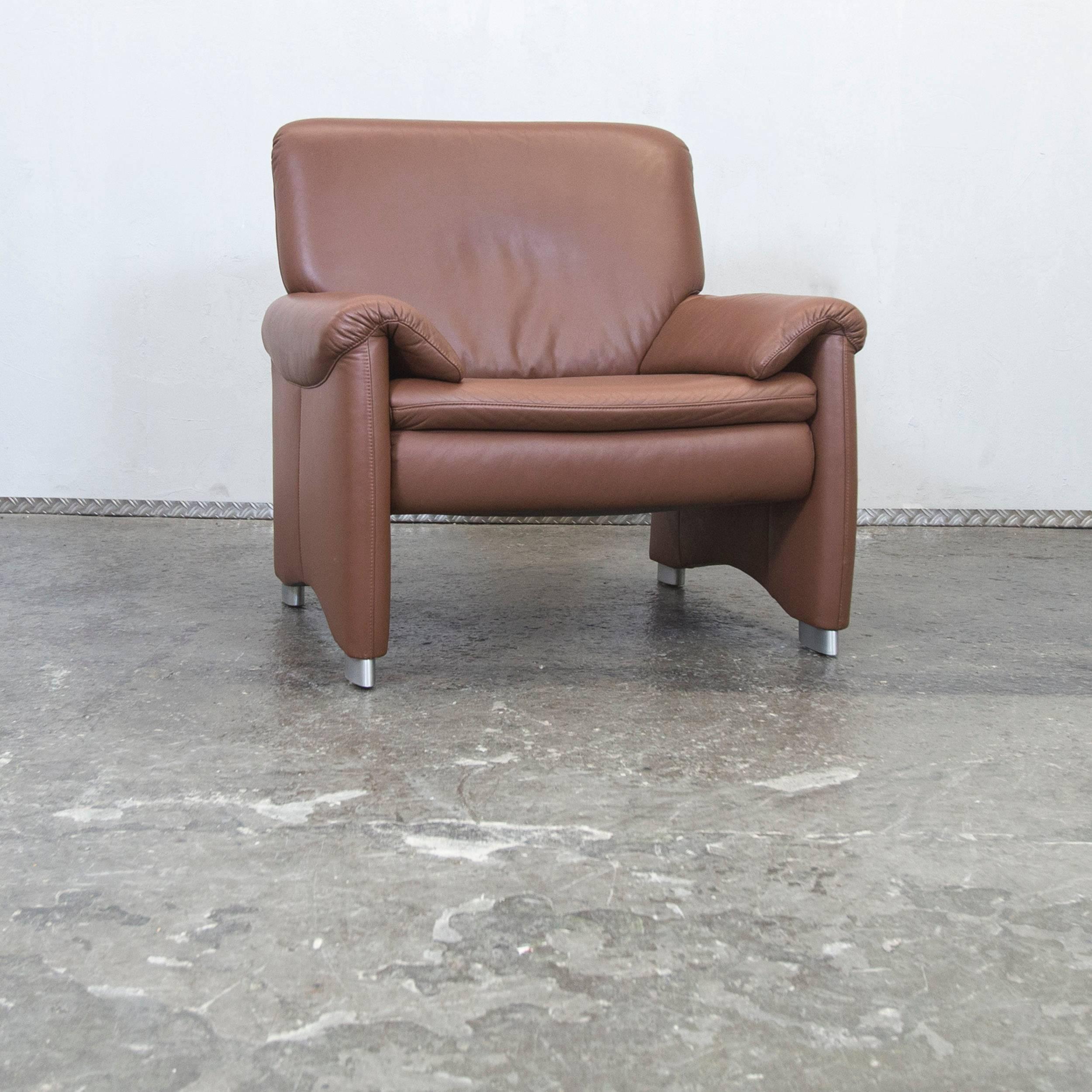 sofa braun leder great hlsta designer armchair brown. Black Bedroom Furniture Sets. Home Design Ideas