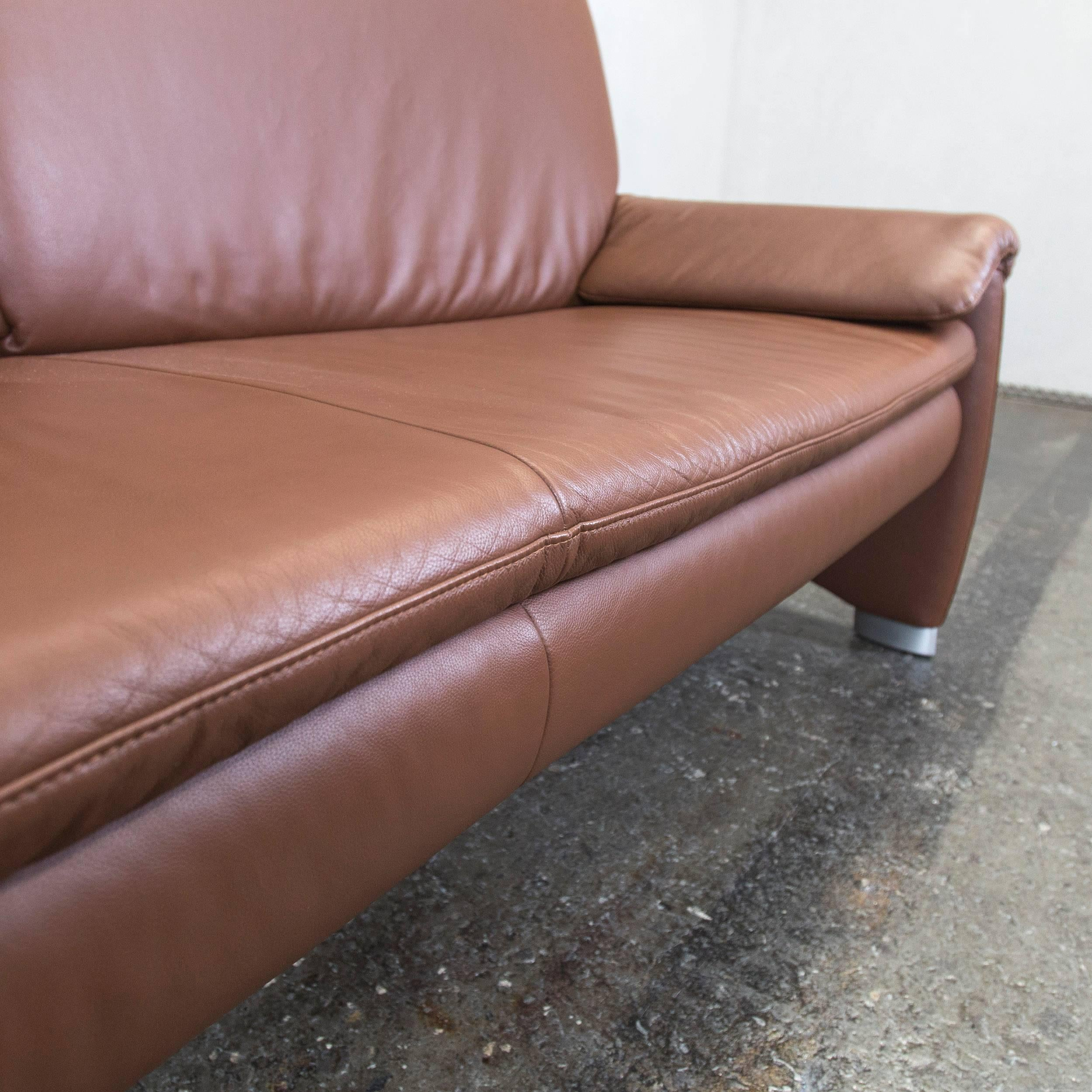 Beeindruckend Couch Leder Braun Das Beste Von Great Hlsta Designer Sofa Brown Leather Threeseat